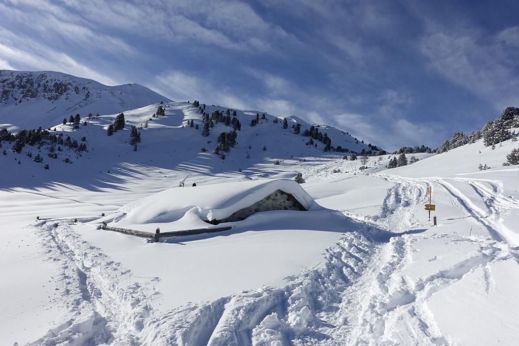 Schneeschuhtour Val Muestair, Buffalora © Valerie Chetelat