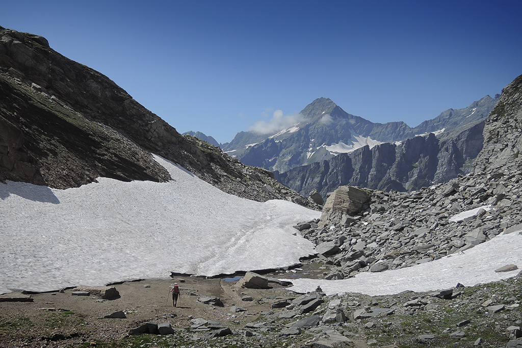 Wanderung Piemont, Tag 4,  Alpe Devero - Alpe Veglia, zwischen Scatta Orogna und Passo di Valtendra © Valerie Chetelat