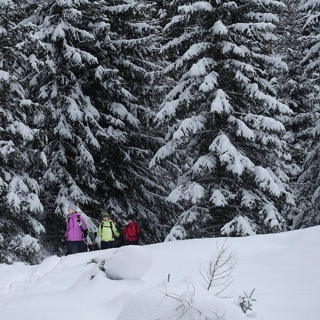 Schneeschuhtour Val Muestair, Val Vau © Valerie Chetelat