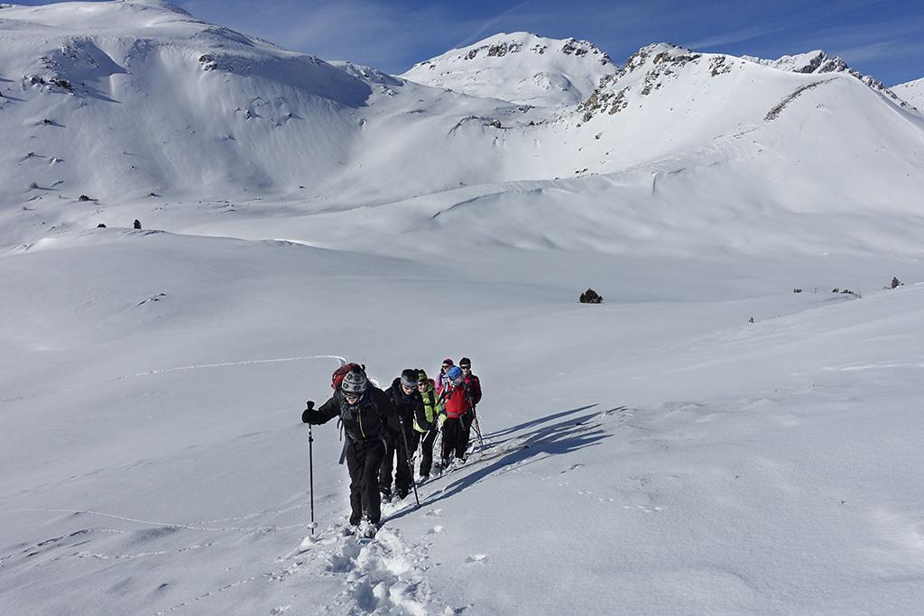 Schneeschuhtour Val Muestair, Murters da Champatsch © Valerie Chetelat