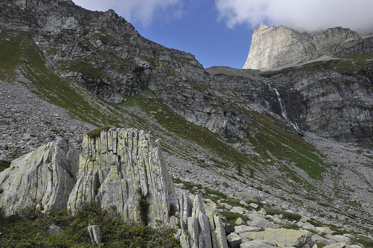 Wanderung Piemont 2014, 24. - 30. August, Blick zum Chriegalppass, Gischihorn © Alison Pouliot